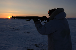 Canadian Ranger with Lee Enfield rifle