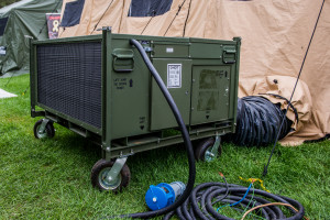 HDT Global designed and built their own A/C system after research showed that commercial varieties weren't up to the harsh conditions of a military camp.