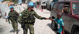 Canadian soldiers in peacekeeping mission