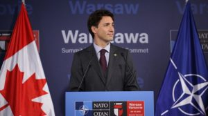 justin trudeau at NATO summit warsaw