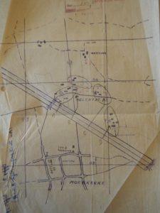 A sketch of the plan of attack for The Algonquin  Regiment near Molentje, Belgium found in  The Algonquin Regiment's War Diary, September 1944.  LAC File: RG2400 Volume 15000