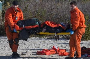 Sergeant Marc Tremblay and Master Corporal Sam Howard, Search And Rescue Technicians. Photo: MCpl Pat Blanchard,
