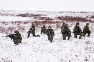 The Canadian Patrol Concentration team from 31 Canadian Brigade Group remains vigilant at Range 15 in the Wainwright Training Area during the Canadian Army's fourth annual Canadian Patrol Concentration held November 18 to 27, 2016. Photo by: Master Corporal Malcolm Byers, 3rd Canadian Division Support Group