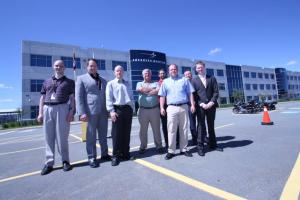 Representatives from LM Canada, CDL and Meggitt.  Photo: Lockheed Martin