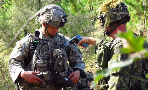 Canadian Troops Researcher Evaluate Nett Warrior System