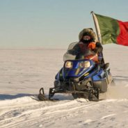 Canadian Rangers on snowmobile expedition