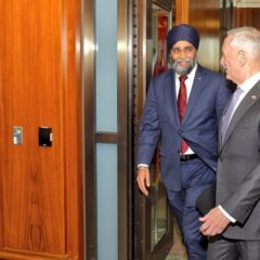 Sajjan, Mattis meeting 'cordial', questions raised about NATO, peacekeeping