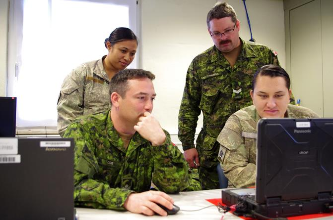 Canadian Army participates in computer-aided exercise in Germany