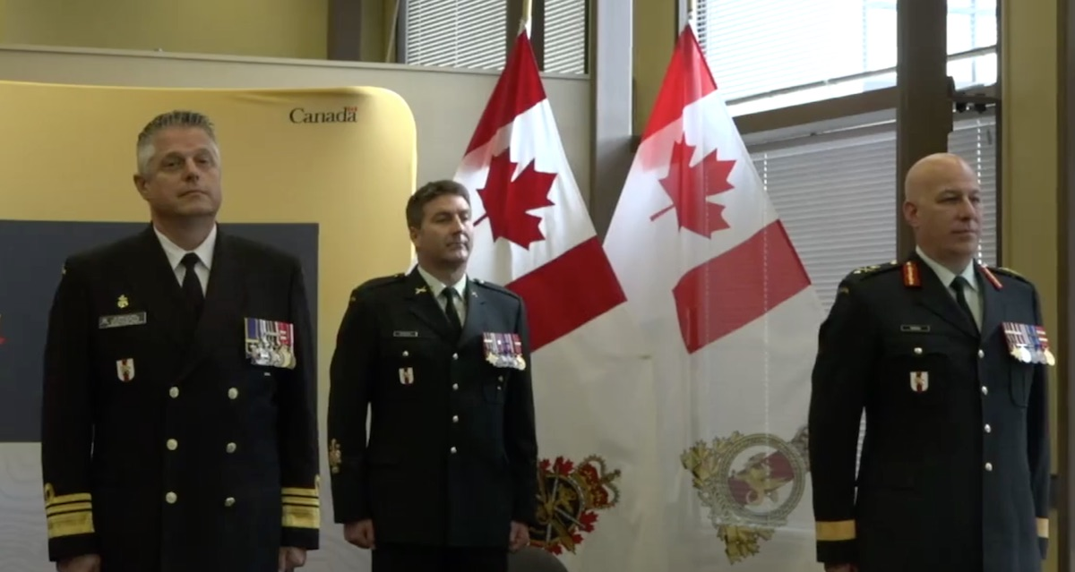 BGen Dyrald Cross assumes command of the Canadian Armed Forces Transition Group