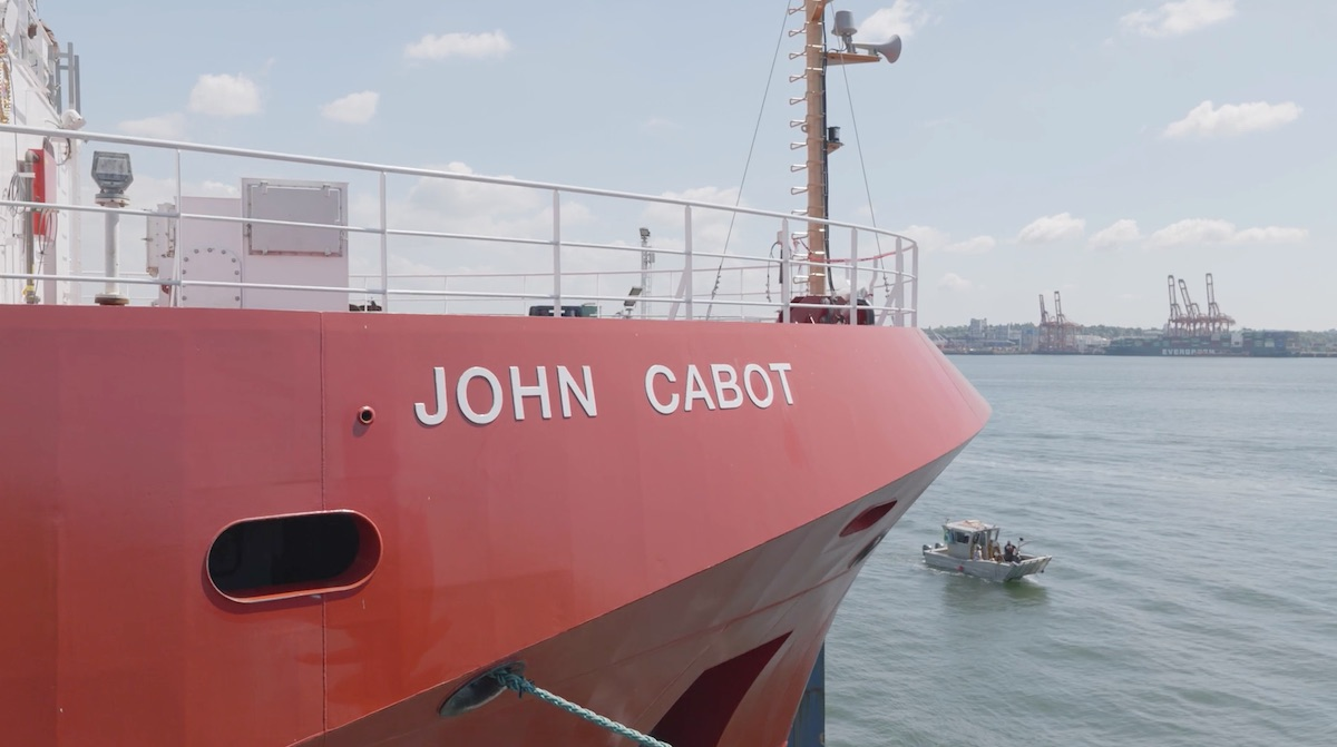 Seaspan Shipyards launches 3rd OFSV, the future CCGS John Cabot