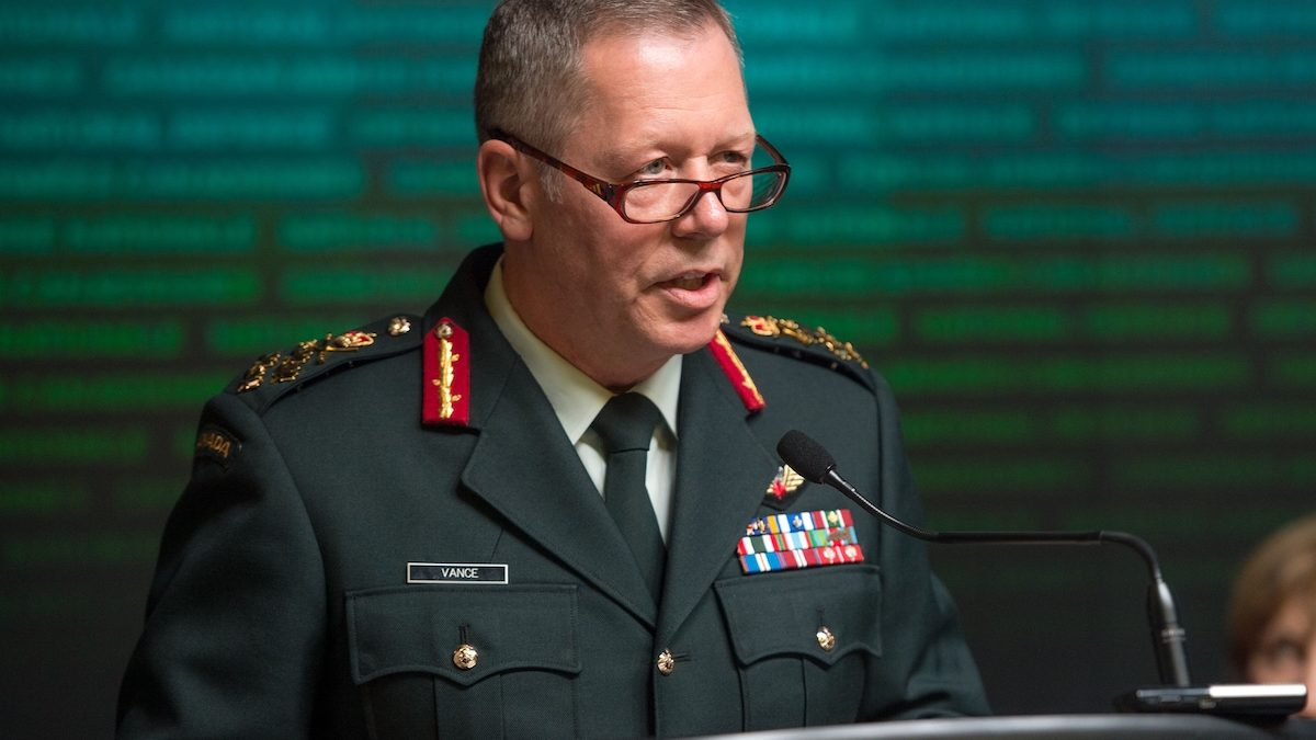 Gen Jon Vance announces his retirement as Chief of the Defence Staff