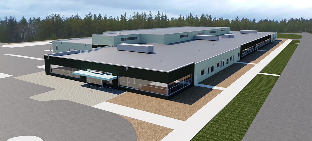 The Royal Canadian Dragoons new modern facility under construction in Petawawa