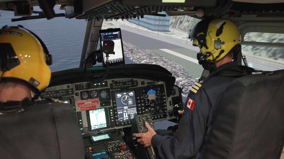 CAE delivers new full-flight helicopter simulator to the Canadian Coast Guard