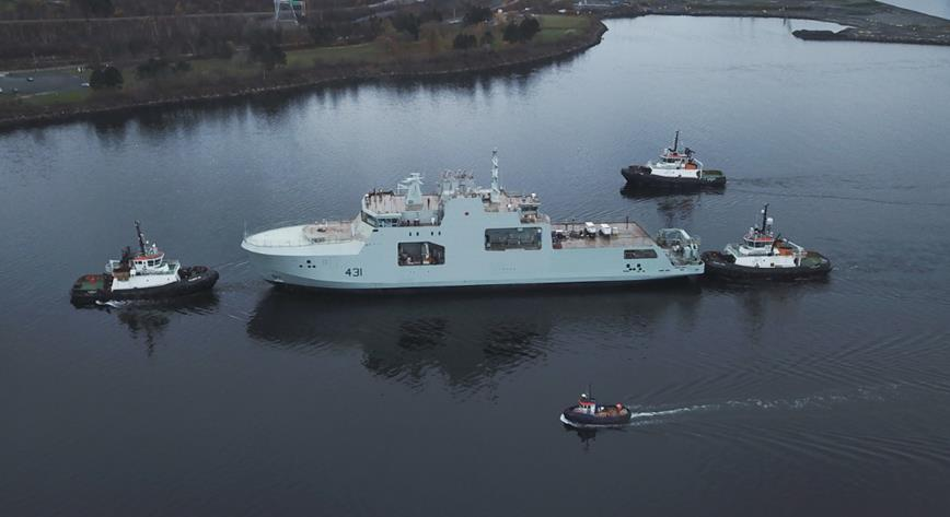 Canada receives second Arctic and Offshore Patrol Ship – the future HMCS Margaret Brooke