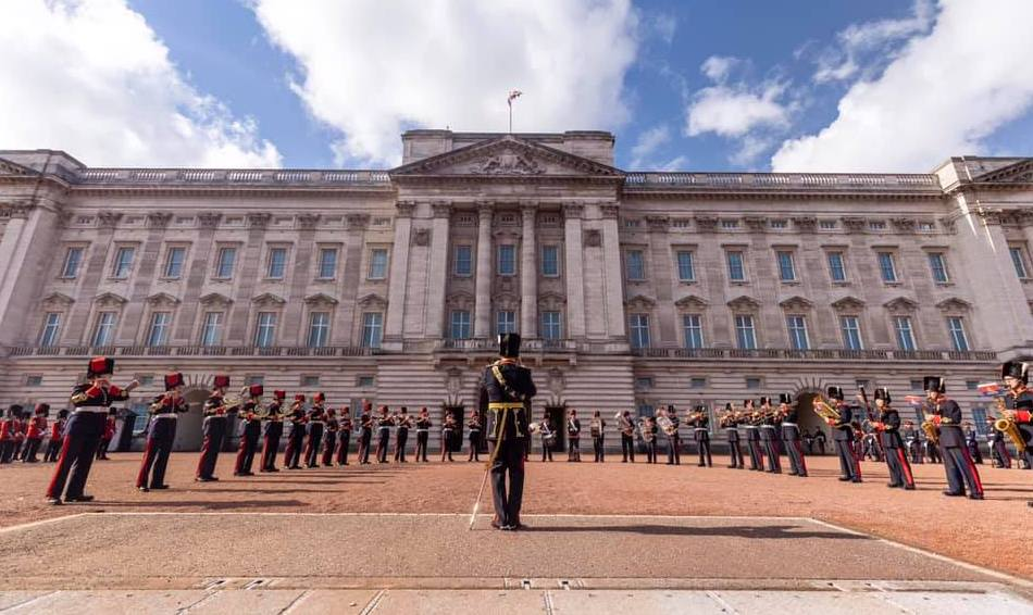 Members of the CAF assume Queen's Guard duties in England